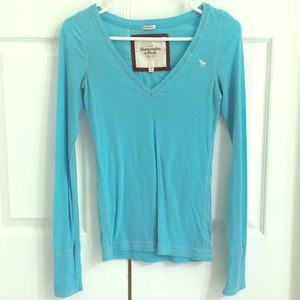 Abercrombie & Fitch blue/turquoise long sleeve